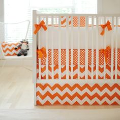 Zig Zag Tangerine 2-Piece Crib Bedding Set at Jack and Jill Boutique.