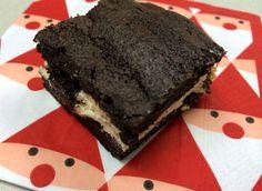Dark Chocolate Brownies with Cream Cheese