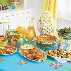 After the egg hunt, church or a morning stroll, sit down with family and friends for a light, tasty meal. (Serves 8)