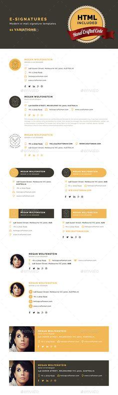 E-Signatures - Modern E-mail Signature Templates - Miscellaneous Web Elements
