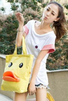 Kawaii Clothing | Bolso Pato / Duck Bag 2WH044 | Online Store Powered by Storenvy