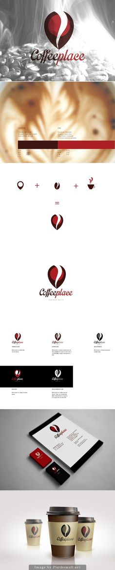 Coffee place by fairy mymyu https://www.behance.net/gallery/12387793/Coffee-place #coffee #cafe #kawa #branding #graphic #design #Icon