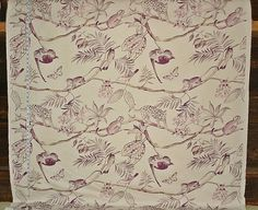 Jungle fabric monkey fabric purple toile by BrickHouseFabrics