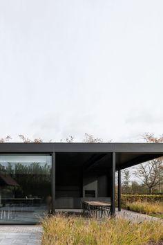 These cute and original Pavilion Architecture will bewilder you! Black Architecture, Modern Architecture Design, Pavilion Architecture, Residential Architecture, Modern House Design, Interior Architecture, Pavilion Design, Sustainable Architecture, Landscape Architecture
