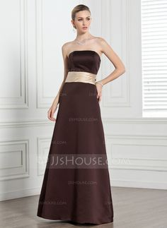 Bridesmaid Dresses - $104.99 - A-Line/Princess Strapless Floor-Length Satin Bridesmaid Dress With Sash (007004221) http://jjshouse.com/A-Line-Princess-Strapless-Floor-Length-Satin-Bridesmaid-Dress-With-Sash-007004221-g4221?ves=y0now5&ver=hd8yk