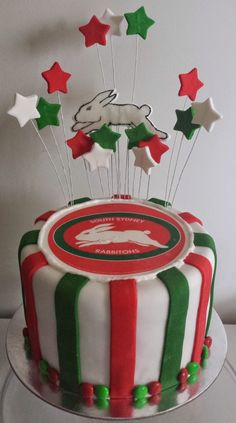 South Sydney Rabbitohs cake :)