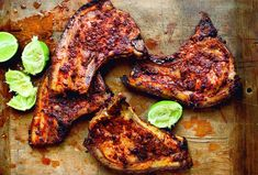 Adobo Marinated Pork Chops Recipe from Leite's Culinaria Grilled Chicken Recipes, Pork Chop Recipes, Grilling Recipes, Meat Recipes, Mexican Food Recipes, Dinner Recipes, Cooking Recipes, Dinner Ideas, Grilled Turkey
