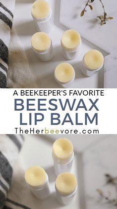 Fun Easy Crafts, Easy Diy, Homemade Stocking Stuffers, Sugar Free Honey, Beeswax Lip Balm, Lip Balm Recipes, Lip Hydration, Diy Lip Balm, Honey Recipes
