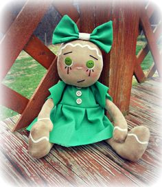 gingerbread doll, primitive doll, christmas decoration, december trends, christmas gift, the best gift, gifting idea, home decor, trending - pinned by pin4etsy.com