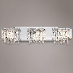 "Possini Euro Design Crystal Strand 25 3/4"" Wide Bath Light - #R6824 | LampsPlus.com"