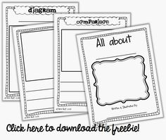 "FREEBIE Informational ""all about"" story booklet"
