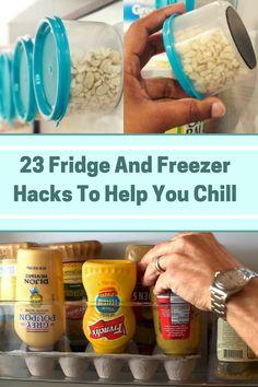 23 Fridge And Freezer Hacks To Help You Chill Kitchen Hacks, Diy Kitchen, Smart Kitchen, Kitchen Storage, Organized Mom, Getting Organized, Storage Hacks, Organization Hacks, Freezer Hacks
