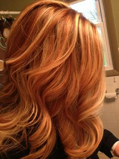 Strawberry with blonde highlights
