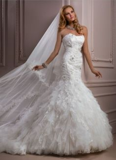 standout trumpet bridal gown
