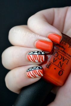 Cool animal print nail art mix Change the black to blue and you have patriotic nails!