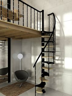 How to choose and buy a new and modern staircase – My Life Spot Narrow Staircase, Loft Staircase, Modern Staircase, Spiral Stairs Design, Staircase Design, Space Saving Staircase, Studio Loft, Minimal House Design, House Outside Design