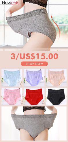 afabcbd51570f Plus Size High Waisted Tummy Control Cotton Pocket Panties  panties  cotton   tummycontrol