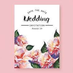 Convite de casamento Watercolor