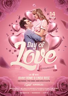 Buy Valentines Day Flyer by bornx on GraphicRiver. Valentines Day Flyer Template – A premium Photoshop flyer template design perfect to promote your Valentine's day par. Valentine Poster, Valentine Images, Valentines Design, Valentine Ideas, Ad Design, Flyer Design, Graphic Design, Valentines Anime, Valentine Nails