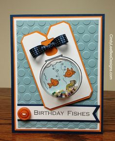 Cindy Brumbaugh: CindyLeeBee Designs – SU Fishin' Around for the Kids - 9/17/13.  (SU: Fishin' Around stamp; MDS sentiment; Chalk Talk framelits). (Pin#1: Shaker.  Pin+: Children).
