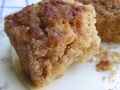 Grandma's easy coffee crumb cake, a delicious decadent breakfast treat with just 205 calories and 6 Weight Watchers Points Plus