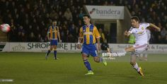Ander Herrera of Manchester United has a shot on goal during the Emirates FA Cup Fifth Round match between Shrewsbury Town and Manchester United at Greenhous Meadow on February 22, 2016 in Shrewsbury, England.