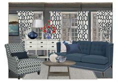 """""""Take Wing"""", an Olioboard by Mary (pillowsandpaint) features CR Laine's Jack sofa and Tyler chair"""