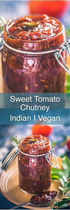 An interesting variation of the Indian dip, Sweet Tomato Chutney Recipe is a sweetish tangy sauce which has a wonderful mix of tomatoes, spices et al. Indian I Tomato I Chutney I Recipe I Food I Sauce I Accompaniment I Best I Easy I Quick I Perfect I Homemade I Up Style I