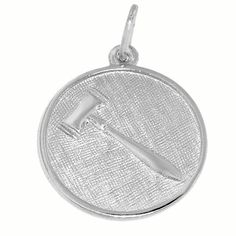 Gavel Charm $31  http://www.charmnjewelry.com/category/sterling_silver-Hobby_and_Profession_Charms.htm #SilverCharm