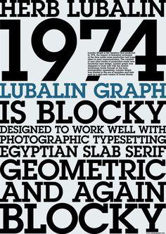 ITC Lubalin Graph Std by Ed Benguiat and Herb Lubalin