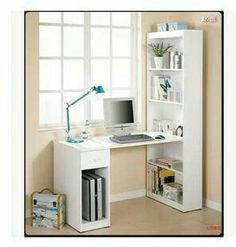 20 DIY Desks That Really Work For Your Home Office Tags: computer desk ideas for bedroom living room diy narrow old computer desk ideas primitive computer desk ideas space saving and unique computer ideas. Diy Computer Desk, Room Design, Small Spaces, Bookshelves Diy, Bedroom Desk, Space Saving, Bookshelf Desk, Desk, Trendy Home
