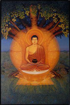 Будда Шакьямуни (Живопись Дхармачарьи Чинтамани, фотография Дхармачарьи Алокавиры)