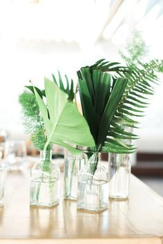 Image result for white and tropical green wedding