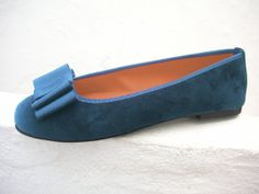 Tana ballerina shoe in sky blue by Maria Rivassi by MariaRivassi, $214.00