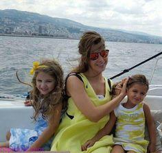 Nancy Ajram and her two angels Justin Bieber Company, Nancy Ajram, Arab Celebrities, Bikinis, Swimwear, Vogue, Stars, Angels, Fashion