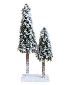 Snowy Pine Tree Figurine | zulily