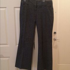 EXSPRESS EDITOR TROUSERS Black and silver white Editor dress pants. Worn once size 12. Wide leg Express Pants Trousers