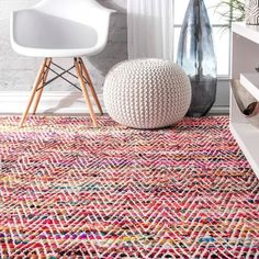 Porch & Den McGuinness Chevron Stripes Area Rug | Overstock.com Shopping - The Best Deals on Area Rugs Chevron Area Rugs, Floral Area Rugs, Blue Area Rugs, Area Rugs For Sale, Rugs Online, Online Home Decor Stores, Colorful Rugs, Rug Size, Hand Weaving