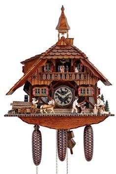 Cuckoo Clock 8-day-movement Chalet-Style 58cm by Anton Schneider - 8TMT1595/9