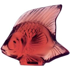 Lalique Classic Fish ($99) ❤ liked on Polyvore featuring home, home decor, golden red, red home accessories, fish home decor, red home decor, whimsical home decor and lalique