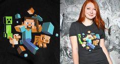 Minecraft Run Away Glow in the Dark T-Shirt