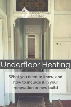 [PODCAST] Underfloor Heating: What you need to know, and how to include it in your renovation or new build Garage Entry, Swimming Gear, Underfloor Heating, Undercover, New Builds, Joinery, Mud, Need To Know, House Plans
