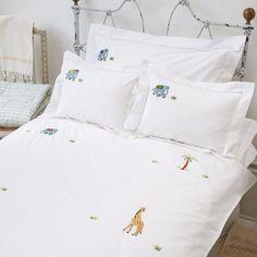 Elephant and Palm Duvet Cover by SARAHK designs | SARAHK designs