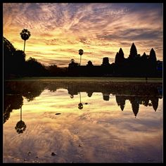 sun rises over the khmer empire..Angkor Wat
