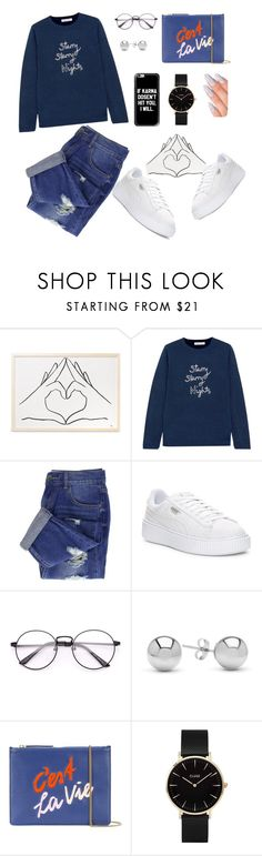 """""""🐭"""" by mirka-smalova ❤ liked on Polyvore featuring Bella Freud, Puma, Jewelonfire, Lizzie Fortunato and CLUSE"""
