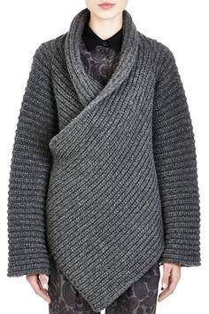 Funnel Neck Cross-Over Sweater