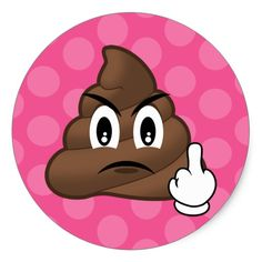Shop Pink Polkadots Middle Finger Poop Emoji Stickers created by MishMoshEmoji. Middle Finger Picture, Middle Finger Emoji, Emoji Stickers, Funny Stickers, Custom Stickers, Middle Finger Wallpaper, Marijuana Art, Emoji Wallpaper, Girl Wallpaper