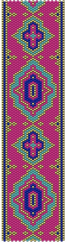 Adelai Pink Peyote Stitch Pattern Download Odd Count