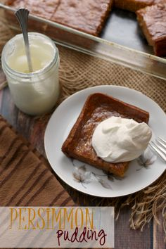 Persimmon Pudding #Thanksgiving #dessert