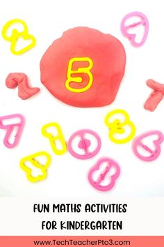 8 fun math activities for kindergarten that include math games and hands-on activities for early years students. Easy to follow and perfect for math lessons or math centres, these activities will keep your students engaged and on tasks with their number work. Kindergarten Math Activities, Preschool Math, Kindergarten Classroom, Math Games, Free Teaching Resources, Teacher Resources, Number Words, Number Games, Teacher Blogs